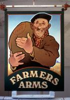 Farmers Arms completed pub sign